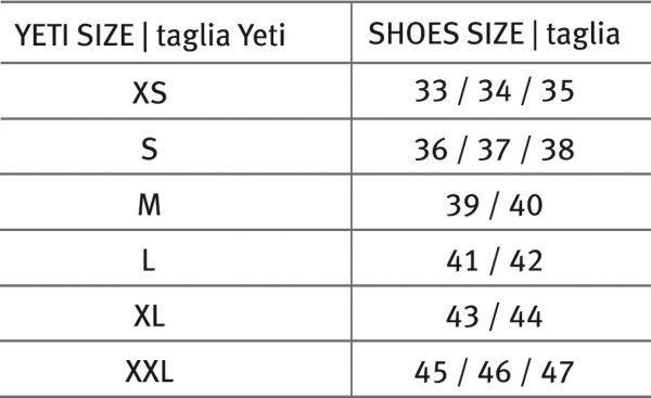 Freem cipőhuzat mérettáblázat